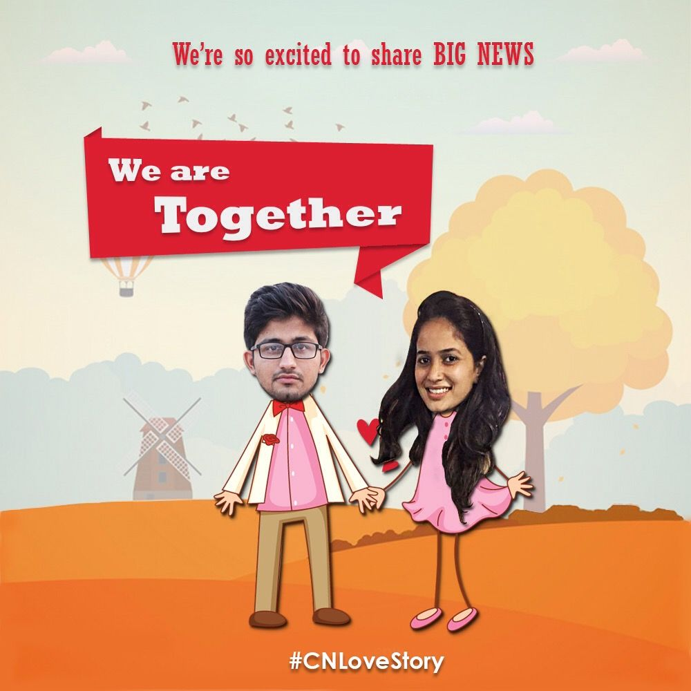 On a beautiful day of Valentine; Let me share something with you before someone else does. We're so excited to share BIG NEWS Yes, we are together. #HappyValentinesDay #ValentinesDay #CNLoveStory