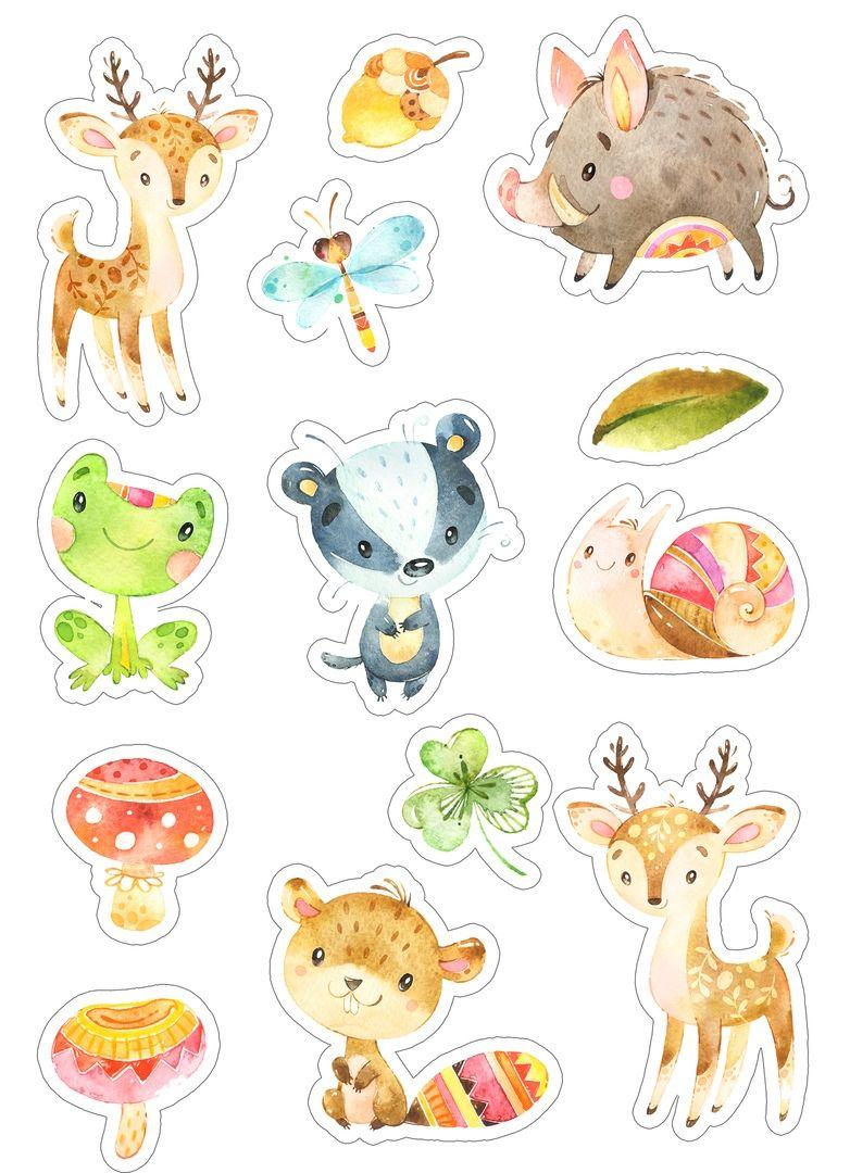 Скрап картинки для детских альбомов животные