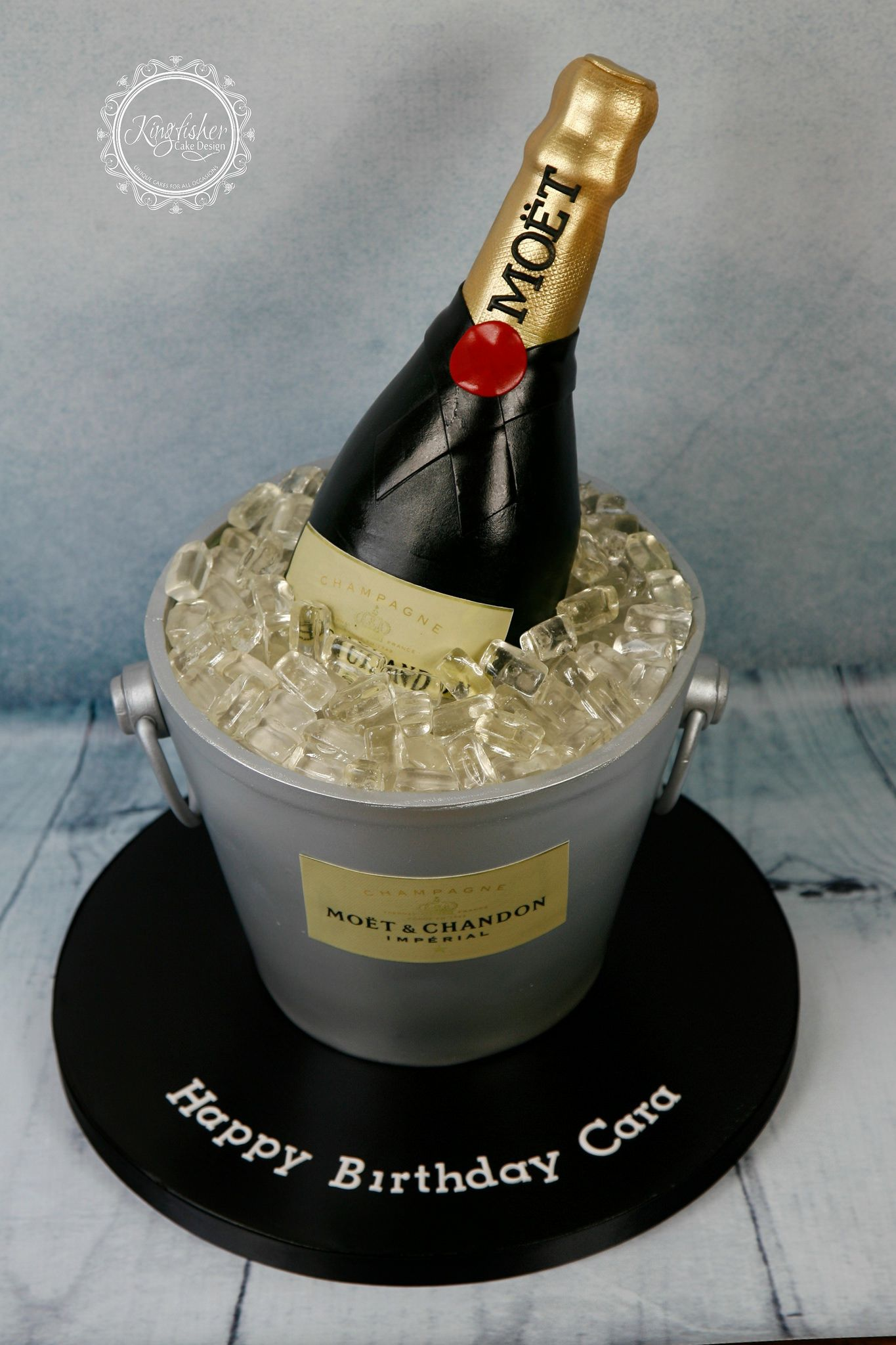 Champagne Bottle Cake This Was Made For Our Friends Daught Flickr
