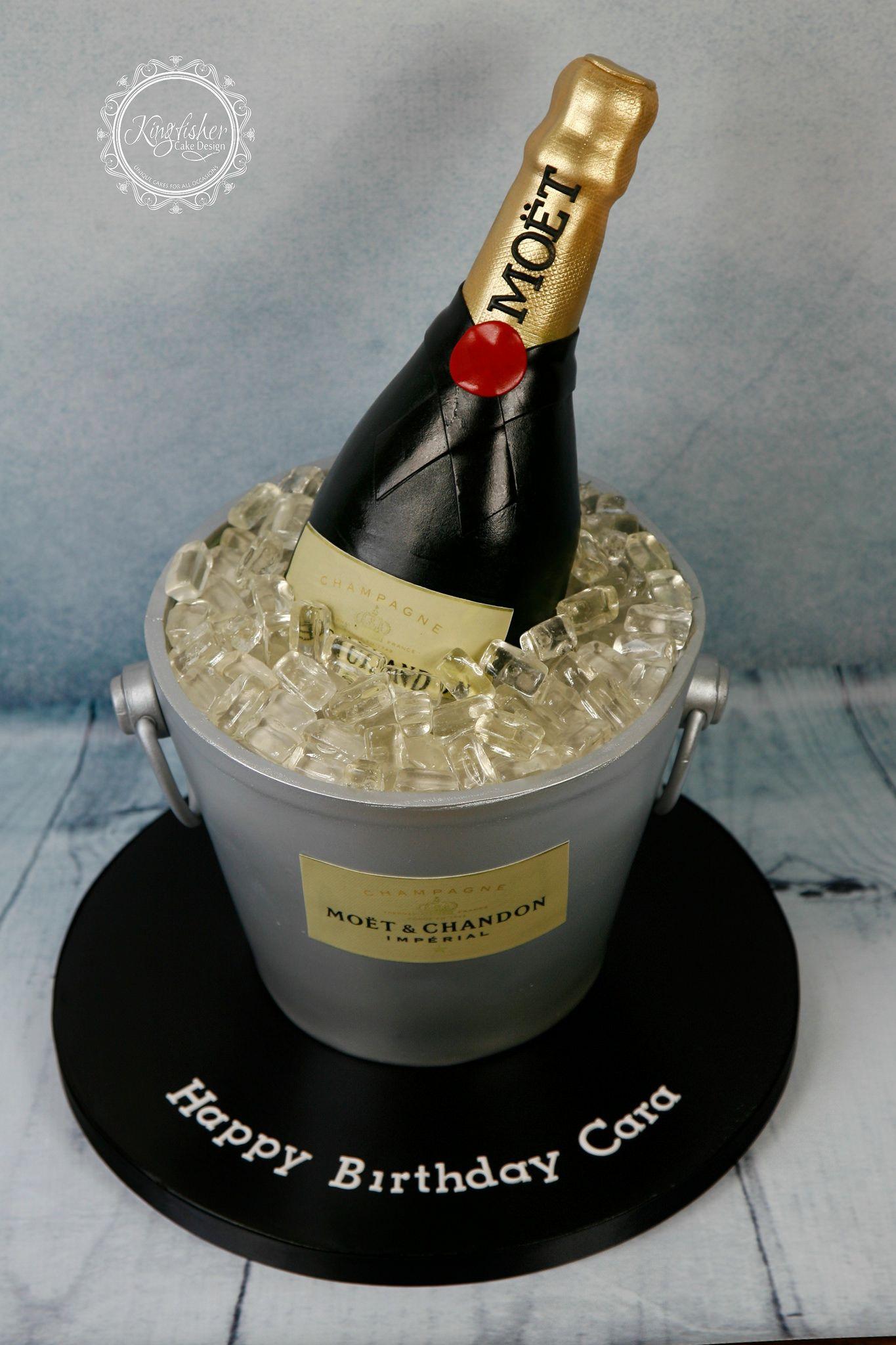 Champagne bottle cake
