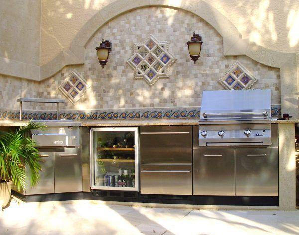 Inimitable Metal Outdoor Kitchen Cabinets With Glass Door Outdoor