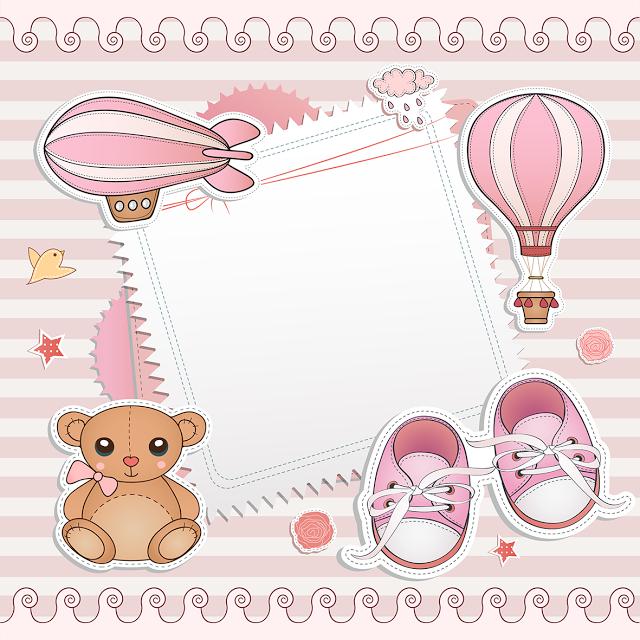 Convites Para Chá De Bebê Editáveis Para Imprimir מסגרות Baby