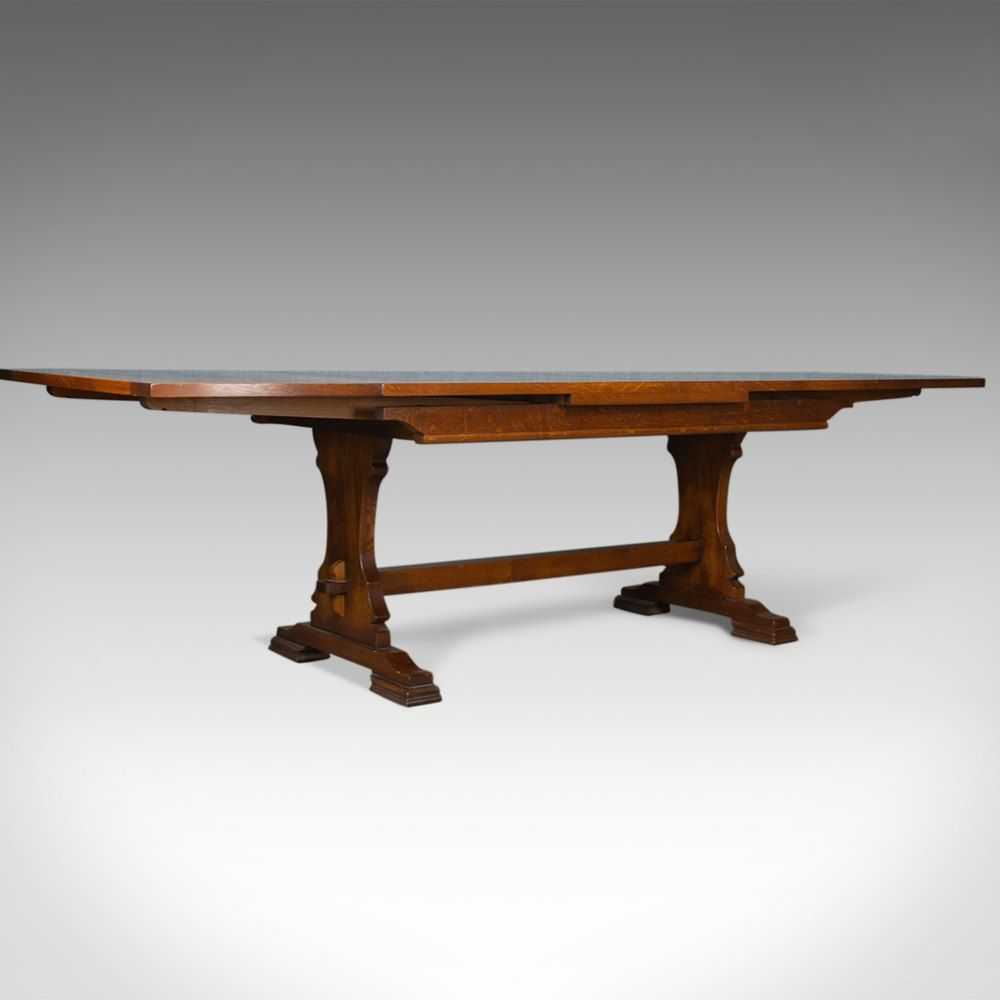 Large Dining Table English Oak Draw Leaf Draw Leaf Tables