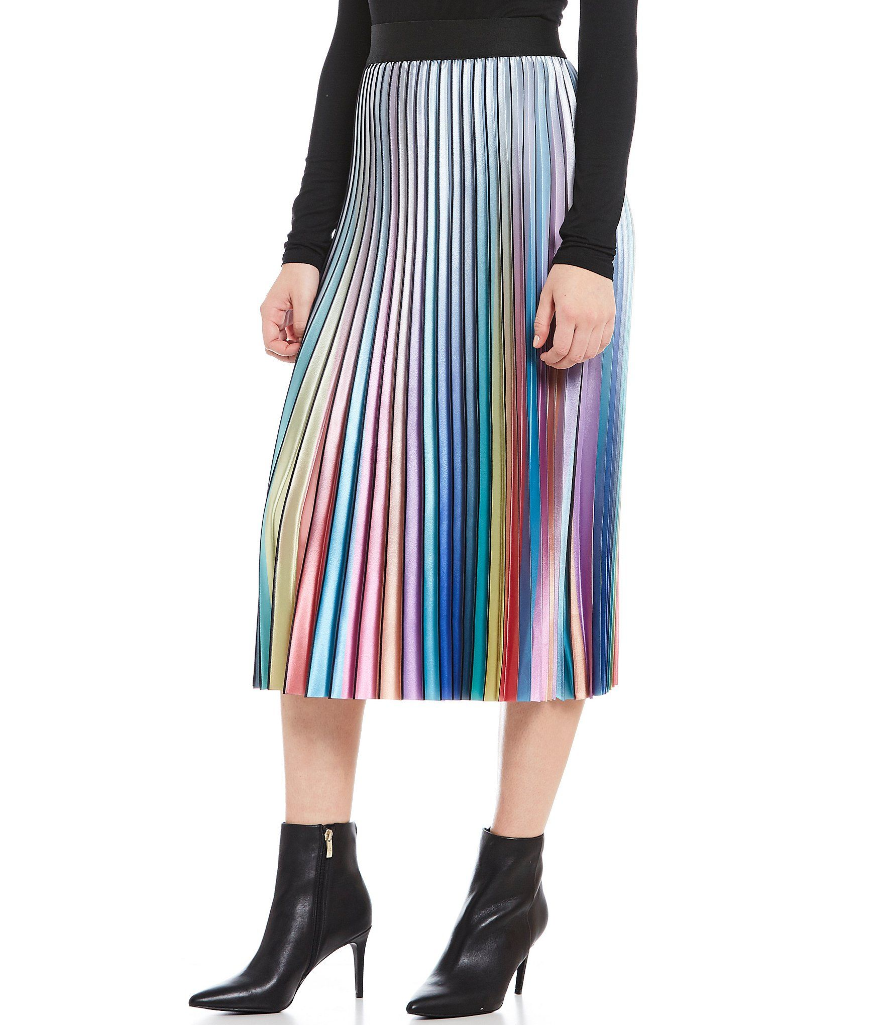 4bcff0d8209e Shop for Lucy Paris Rainbow Accordion Pleated Skirt at Dillards.com ...