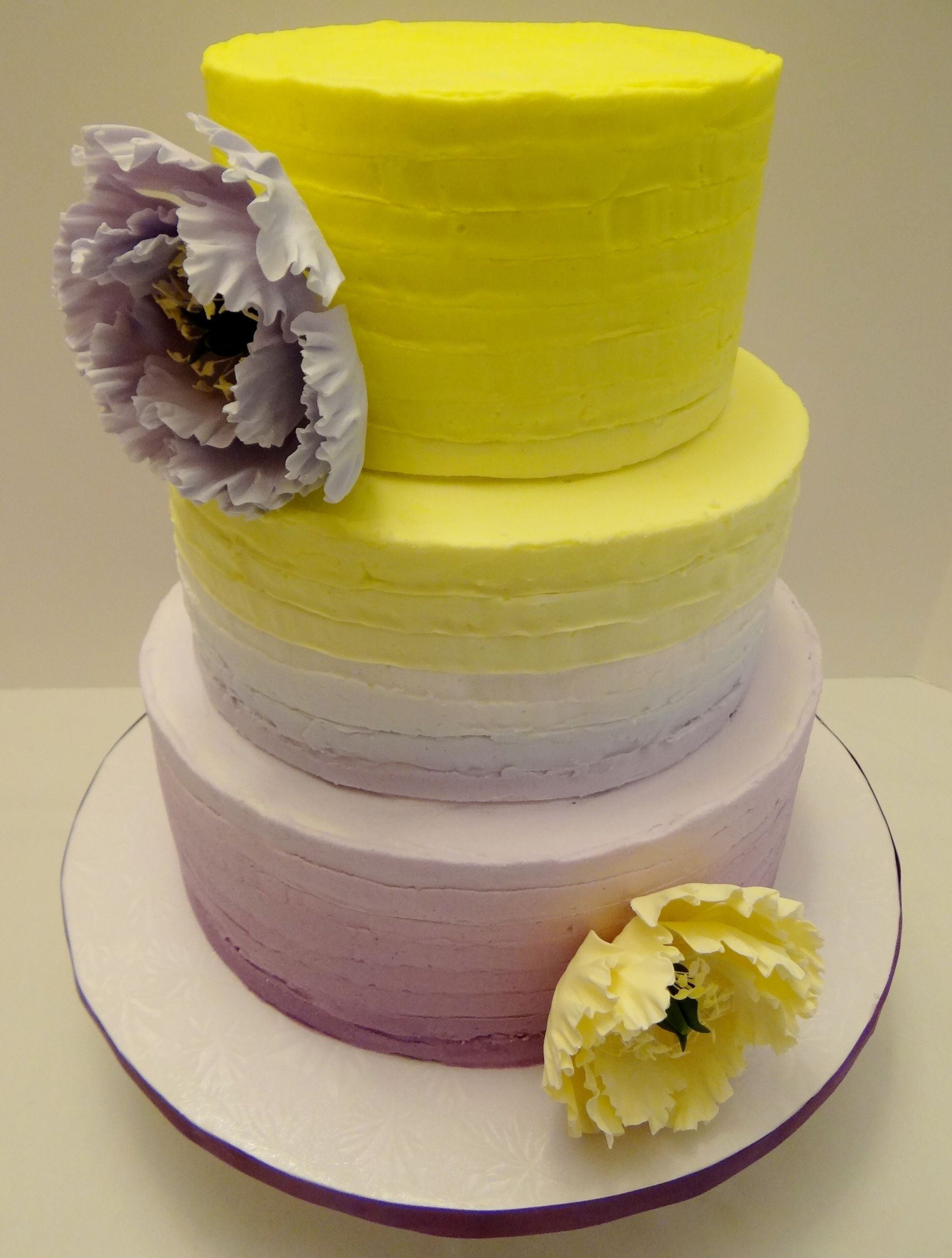 Who says you cant ombre buttercream? Gorgeous 3 tier cake featuring ...