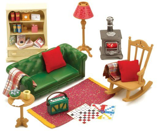 Amazon Sylvanian Families Cosy Living Room Furniture Dollhouse Toys