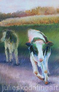 Coming Your Way by Julie Skoda Pastel ~ 18 x 22