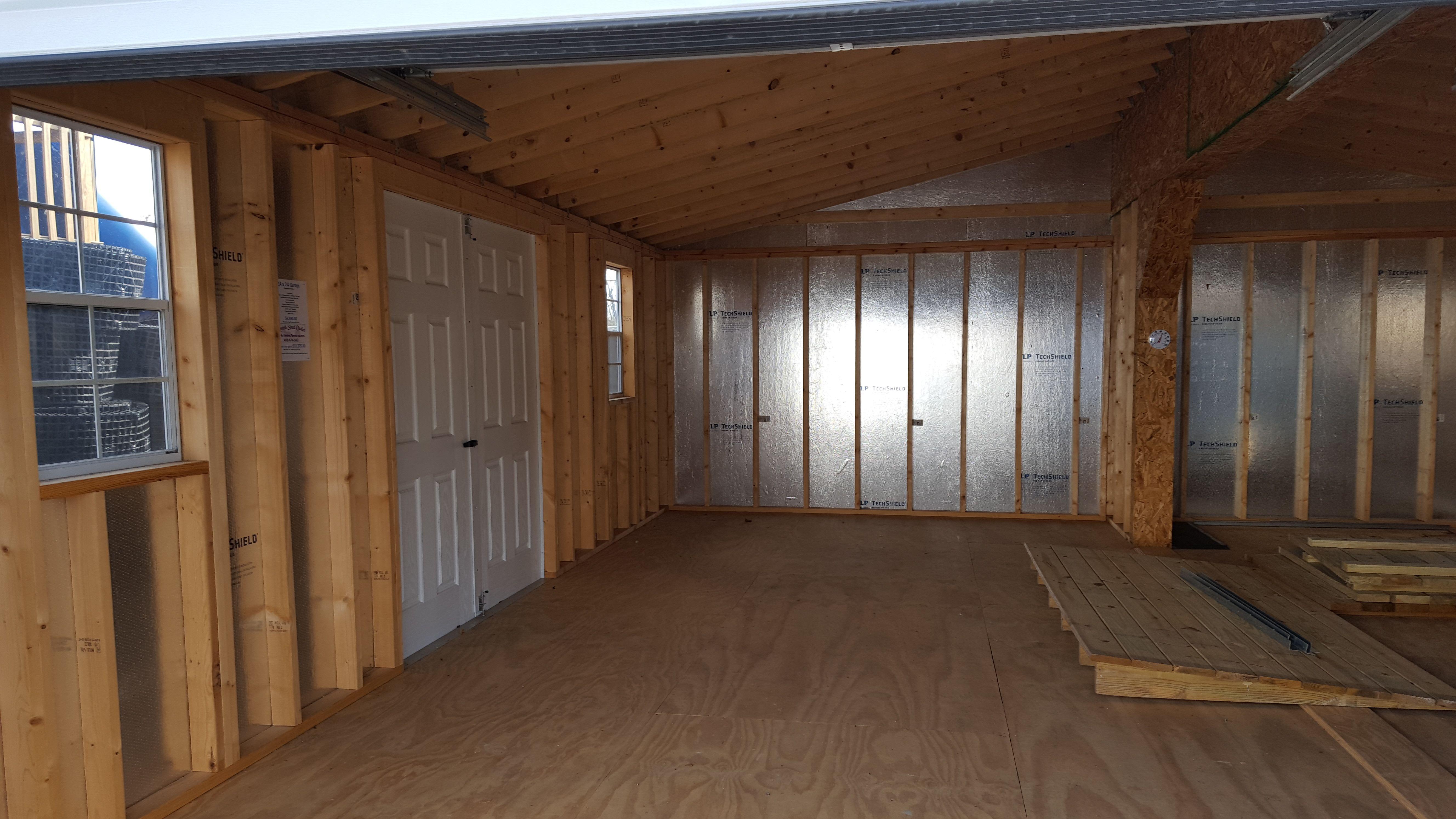 24 X 24 Vinyl Garage Interior Garage Interior Amish Sheds Outdoor Storage