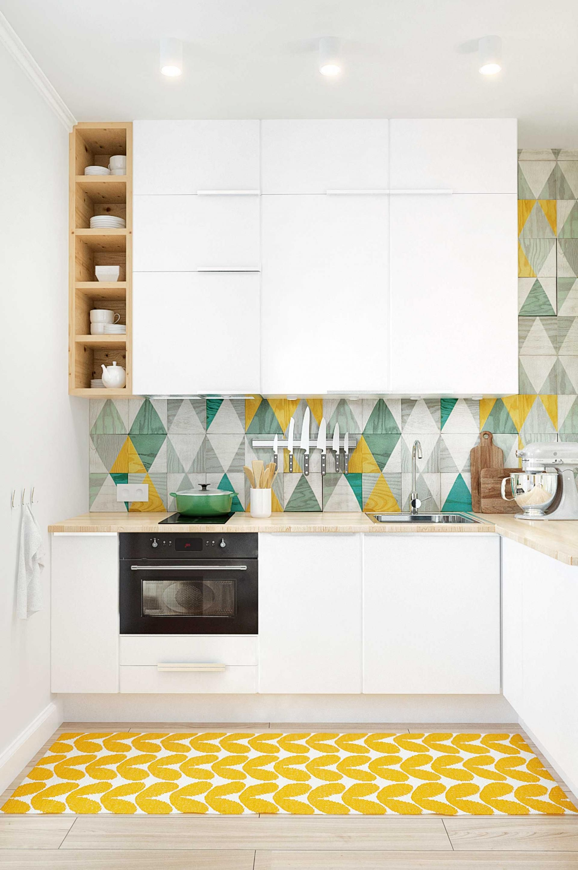 Kitchen wallpaper border   kitchen design ideas Project by Int Architecture  Kitchens