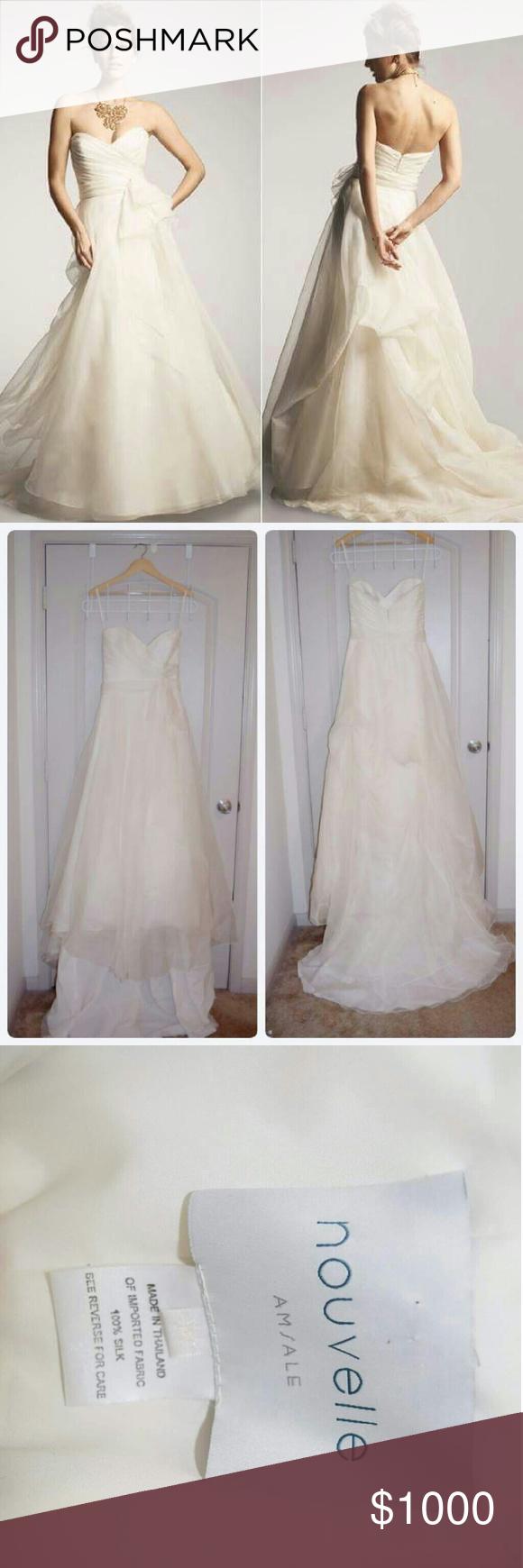 Wedding dress train bustle  Amsale Wedding Dress  My Posh Picks  Pinterest  Nouvelle amsale