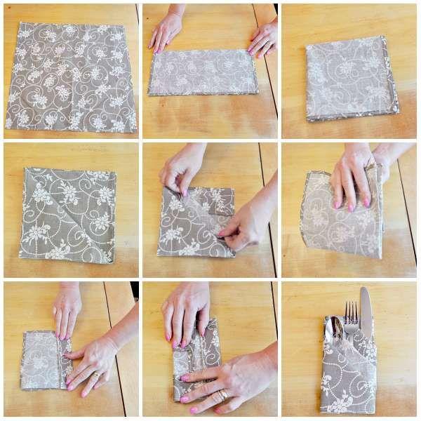 14 pliages de serviettes faciles pour vos magnifiques tables de f tes party ideas pinterest. Black Bedroom Furniture Sets. Home Design Ideas