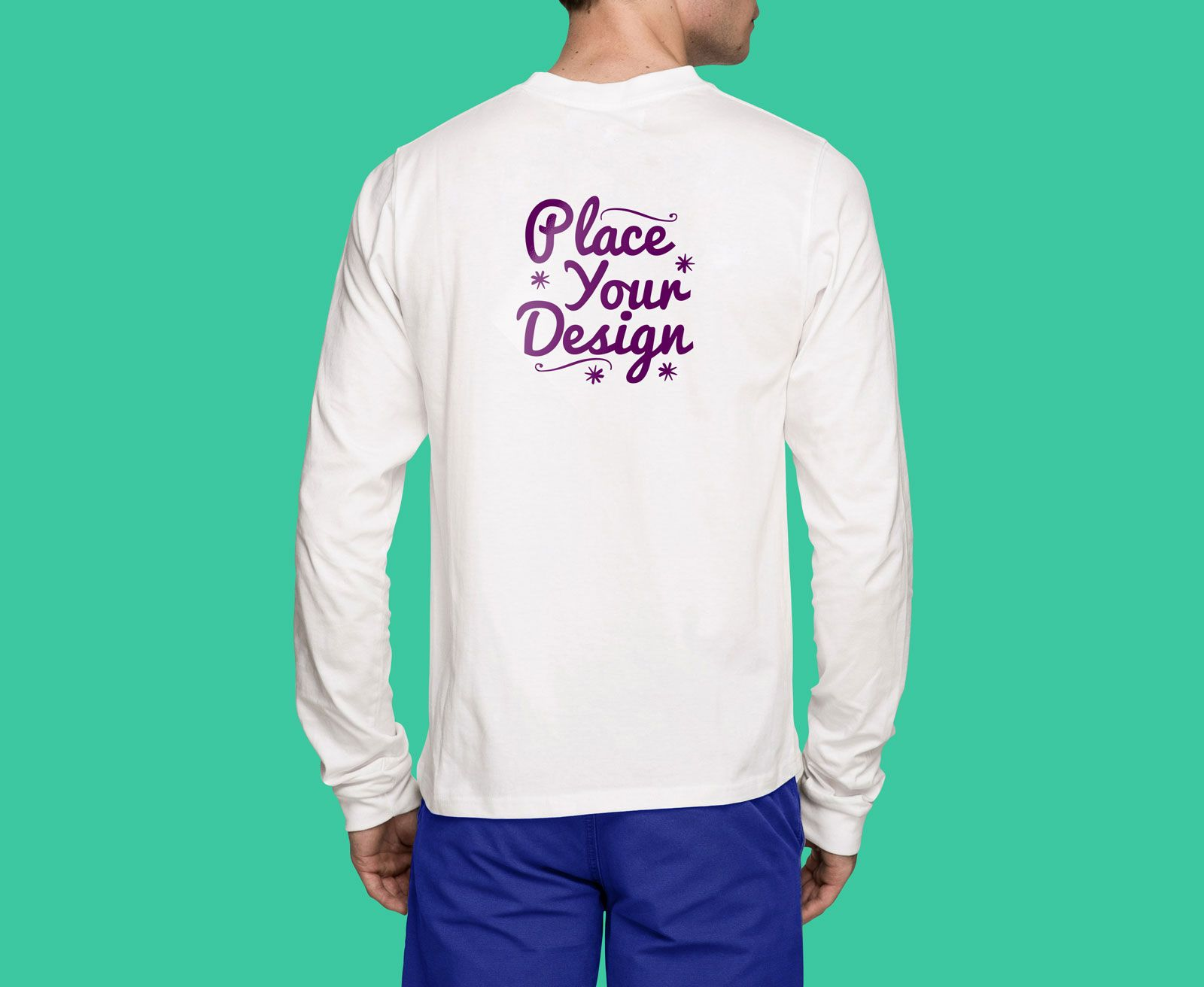Download A Front And Backside Full Sleeves T Shirt Mockup For Online T Shirt Stores As Well As For Designers To Presen Shirt Mockup Long Sleeve Tshirt Men Tshirt Mockup