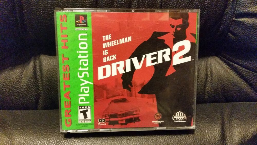 Driver 2 (Sony PlayStation 1, 2000) Complete With Manual