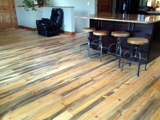 Pine Flooring Blue Pine Flooring Colorado In 2020 Pine Floors Beetle Kill Pine Flooring