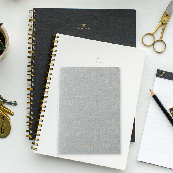Appointed Co USA mini jotter in dove grey | Quill London