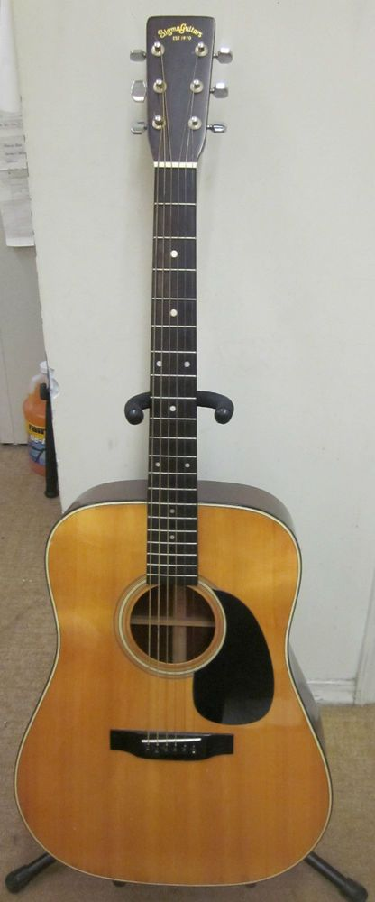 Sigma Acoustic Guitar By Martin Model Dm 5 Used Guitar Acoustic Guitar Guitar Collection