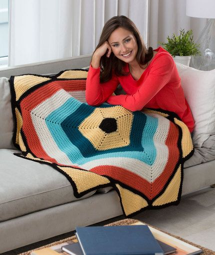 To The Point Throw Free Crochet Pattern From Red Heart Yarns New