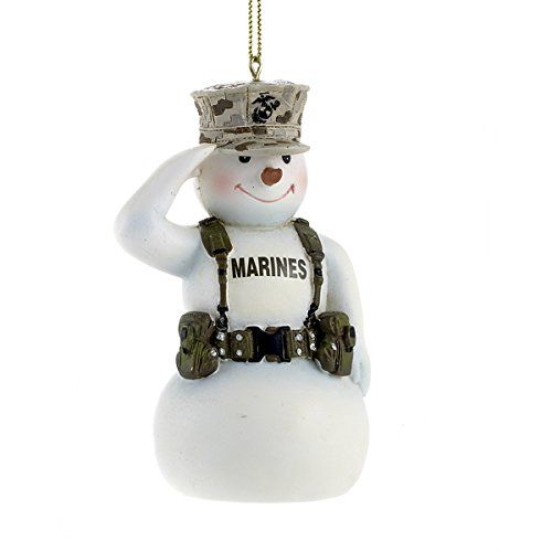 United States Marine Corps Saluting Snowman Usmc Christmas Ornament Mc2132 New Be Sure To Snowman Ornaments Christmas Ornaments Snowman Christmas Ornaments
