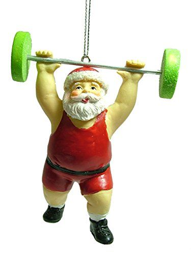 Midwest Santa Weightlifter Gym Exercise Competition ...