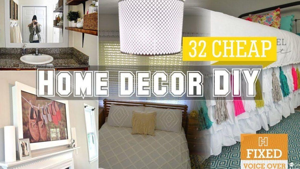 10 Cheap home decor DIY ideas New V O - YouTube #diy #decor #diy