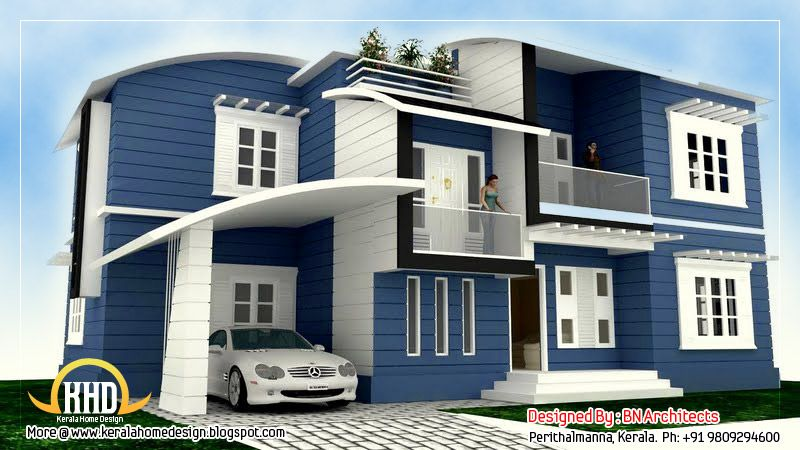 Front Elevation For My House : Front elevation of indian houses house design my