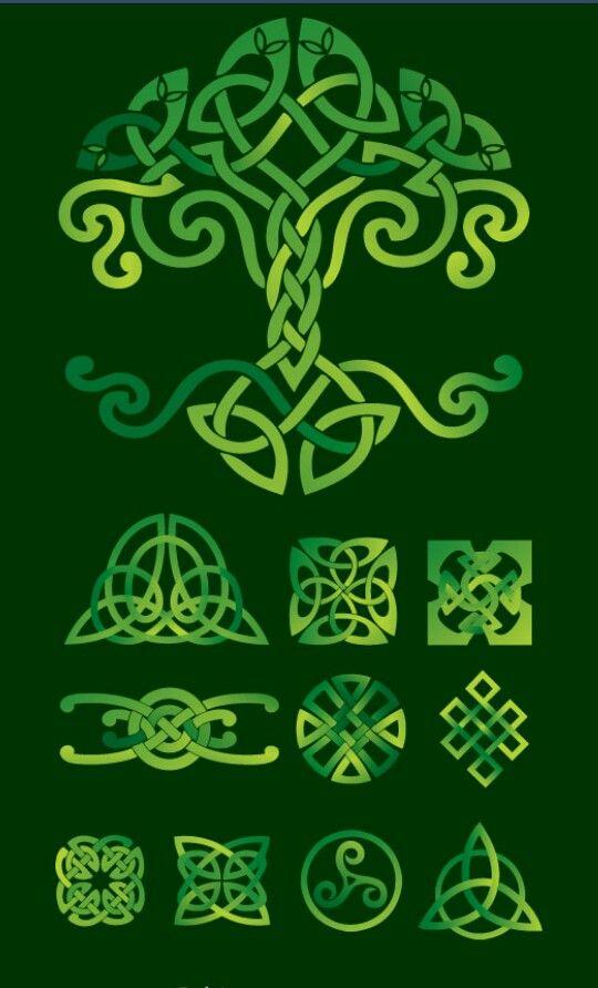 Celtic green vector