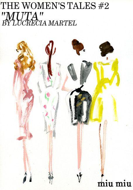"""""""miu miu :THE WOMEN'S TALES #2 """"MUTA"""" BY .LUCRECIA MARTEL"""".miyuki ohashi drawing etcetra"""