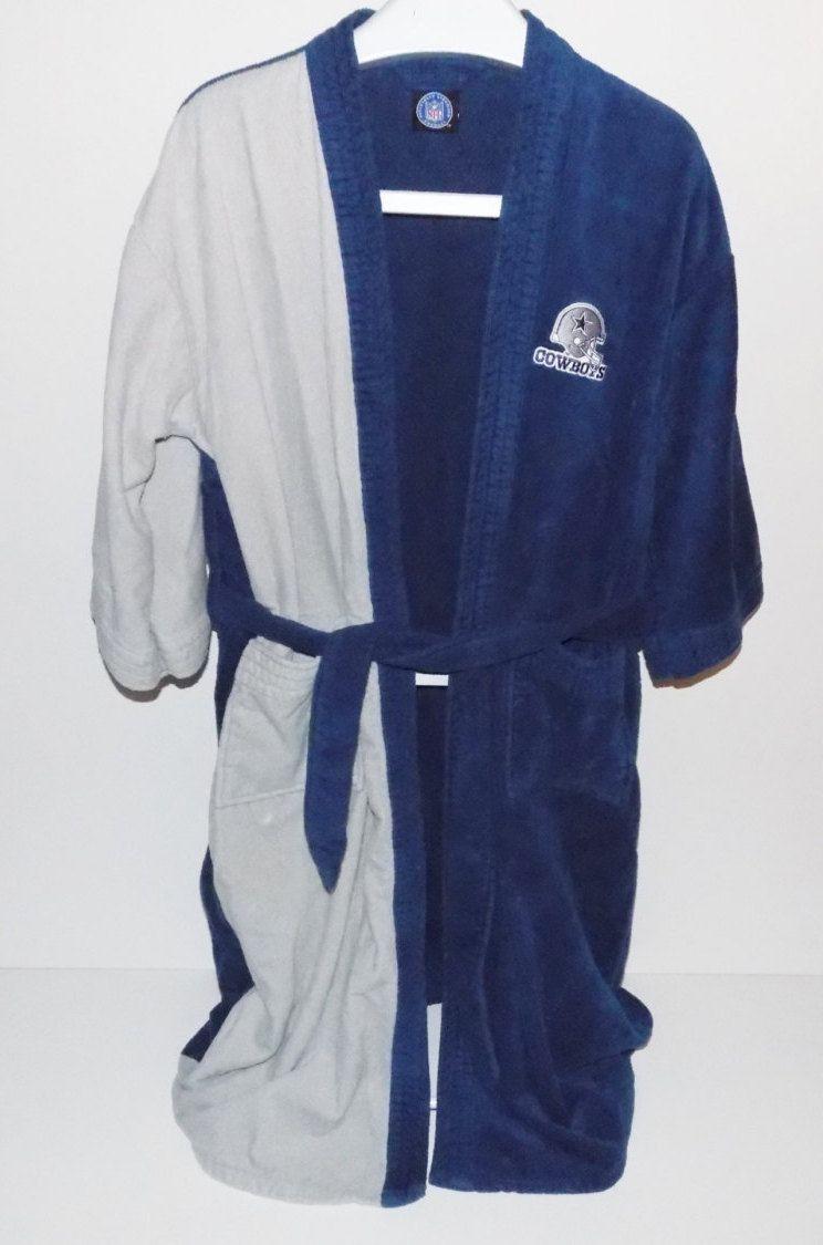 4fdac24dd4173 Vintage Dallas Cowboys Bath Robe  Pajamas  NFL robe  lounge wear by  IGMVINTAGE on Etsy
