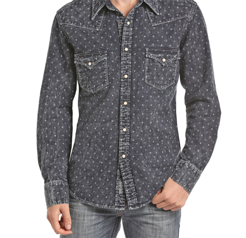 3ef73a24e3e Panhandle Rock and Roll Indigo Long Sleeve Shirt B2S7000 | Products ...