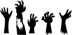 Zombie Hands Silhouette Silhouette Of Zombie Hands Zombie Silhouette Halloween Stencils Halloween Window Silhouettes