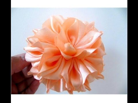 ▶ Moños para el cabello flores de fantasía en telas paso a paso - YouTube