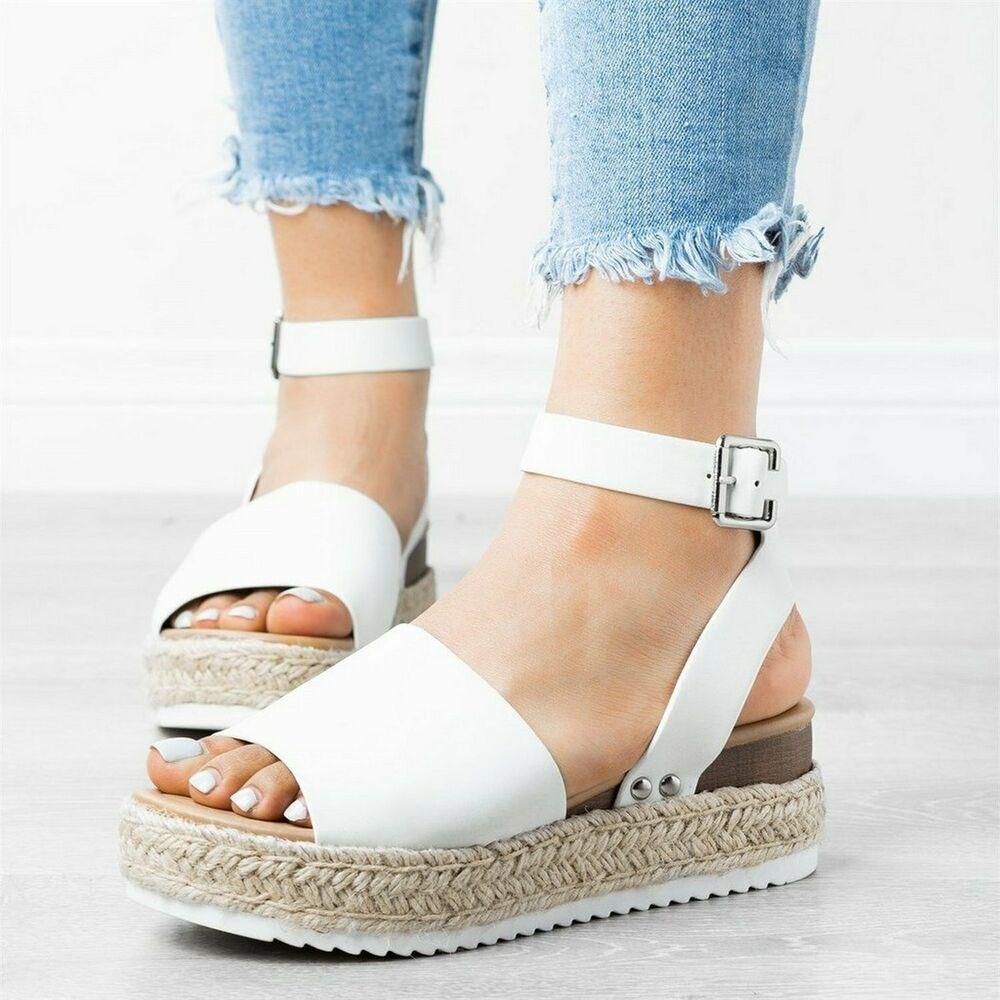 SODA Topic Flatform Sandals Espadrille