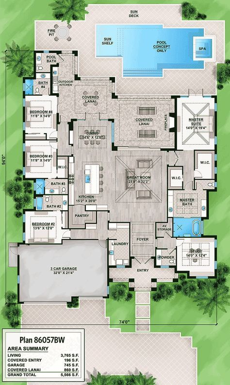 Photo of Plan 86056BW: Upscale Florida House Plan