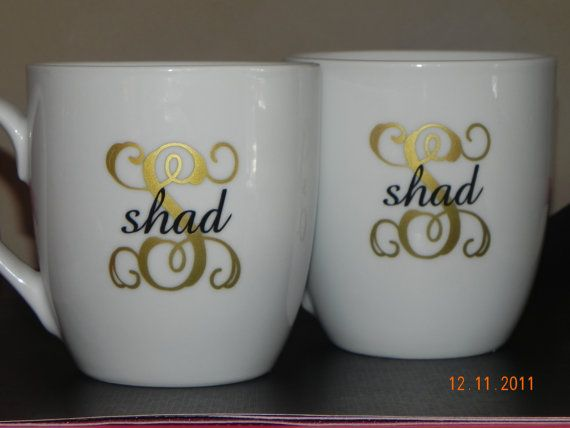 Name with Initial Vinyl Decal  When ordering please specify: 1. Name 2. INITIAL FONT/COLOR-Please refer to the Monogram Styles picture for the