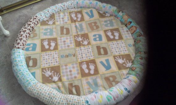 Baby Play Mat by CreativeGiftBoutique on Etsy, $40.00