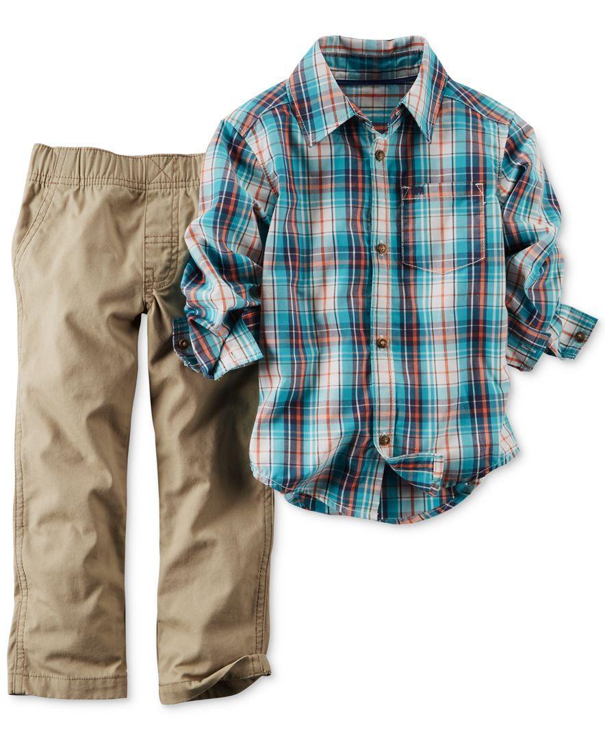 eb07b3e77 Carter's Baby Boys' 2-Piece Plaid Shirt & Pants Set | Products ...