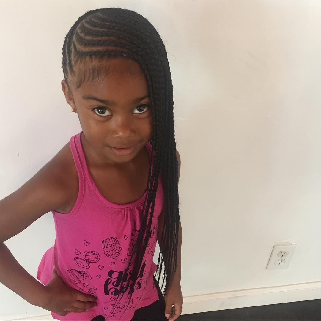 Lemonade Braids For Kids Braidsbylauren Getfussy Voiceofhair Braidsgang Naturalhair Brai Kids Hairstyles Girls Kids Braided Hairstyles Braids For Kids
