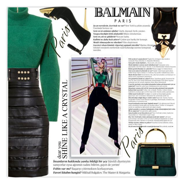 """Balmain"" by mood-chic ❤ liked on Polyvore featuring Balmain, women's clothing, women's fashion, women, female, woman, misses, juniors and balmain"