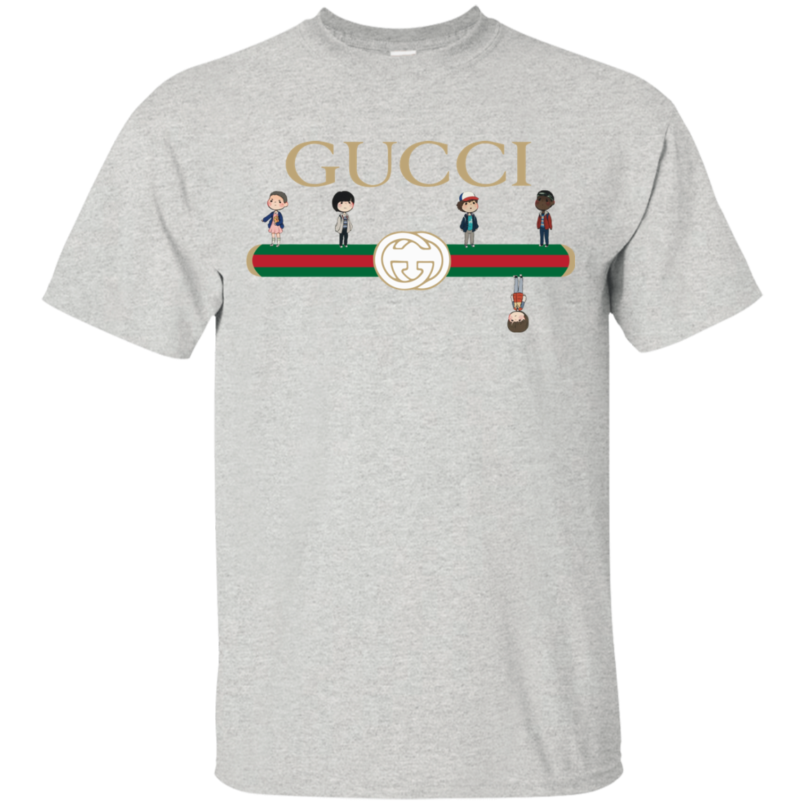298a196cb988 Stranger Things Upside Down Gucci Shirt. Welcome to the Spring season of  Gucci Stranger Things shirt. SUPER HOT TREND for anyone loves Gucci and  Stranger ...