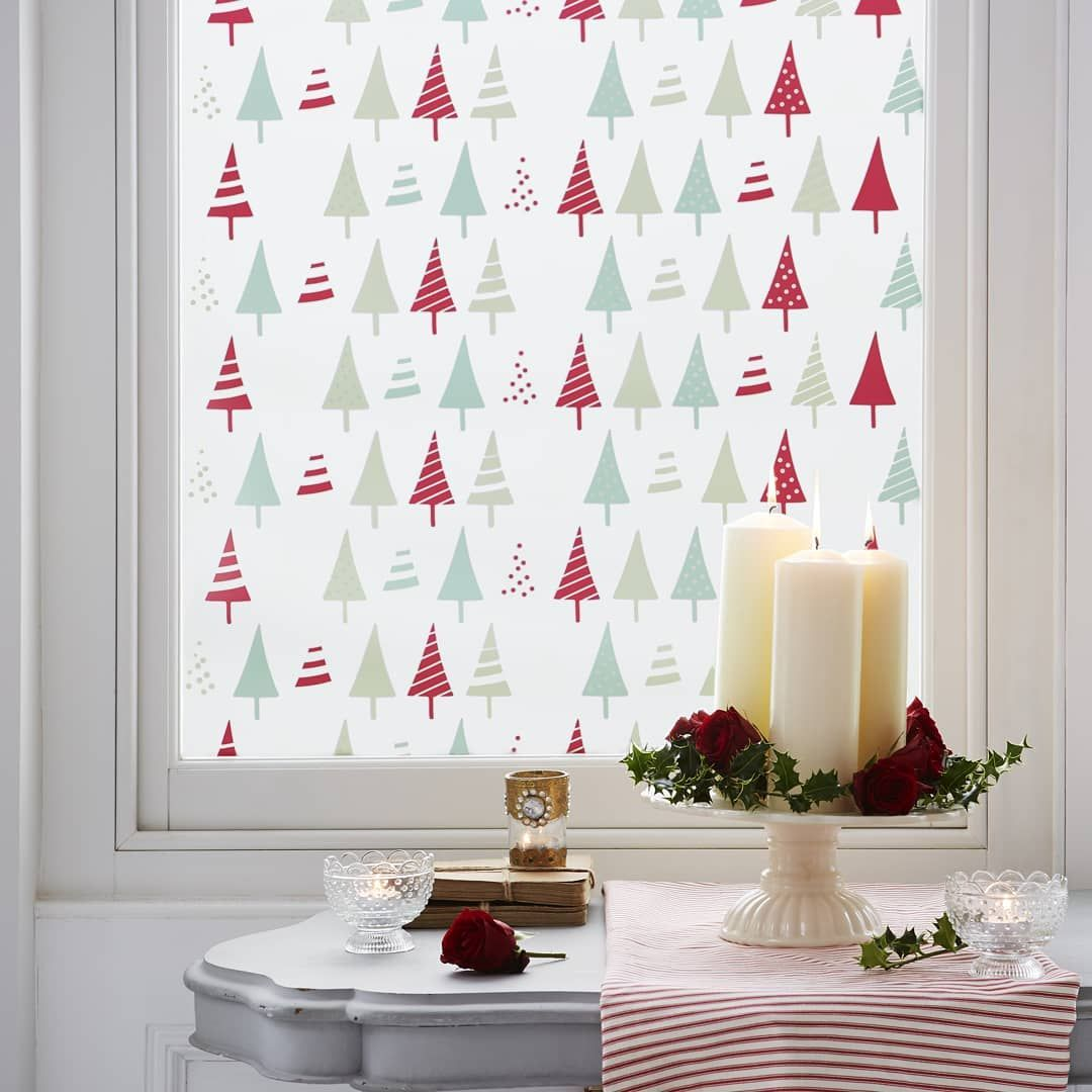 Want a quick Christmas update? How about some festive window film? It's really e... #christmasdecor #christmasdecorations #christmasfeels #christmashome #christmashomedecor #christmaslooks #christmastime🎄