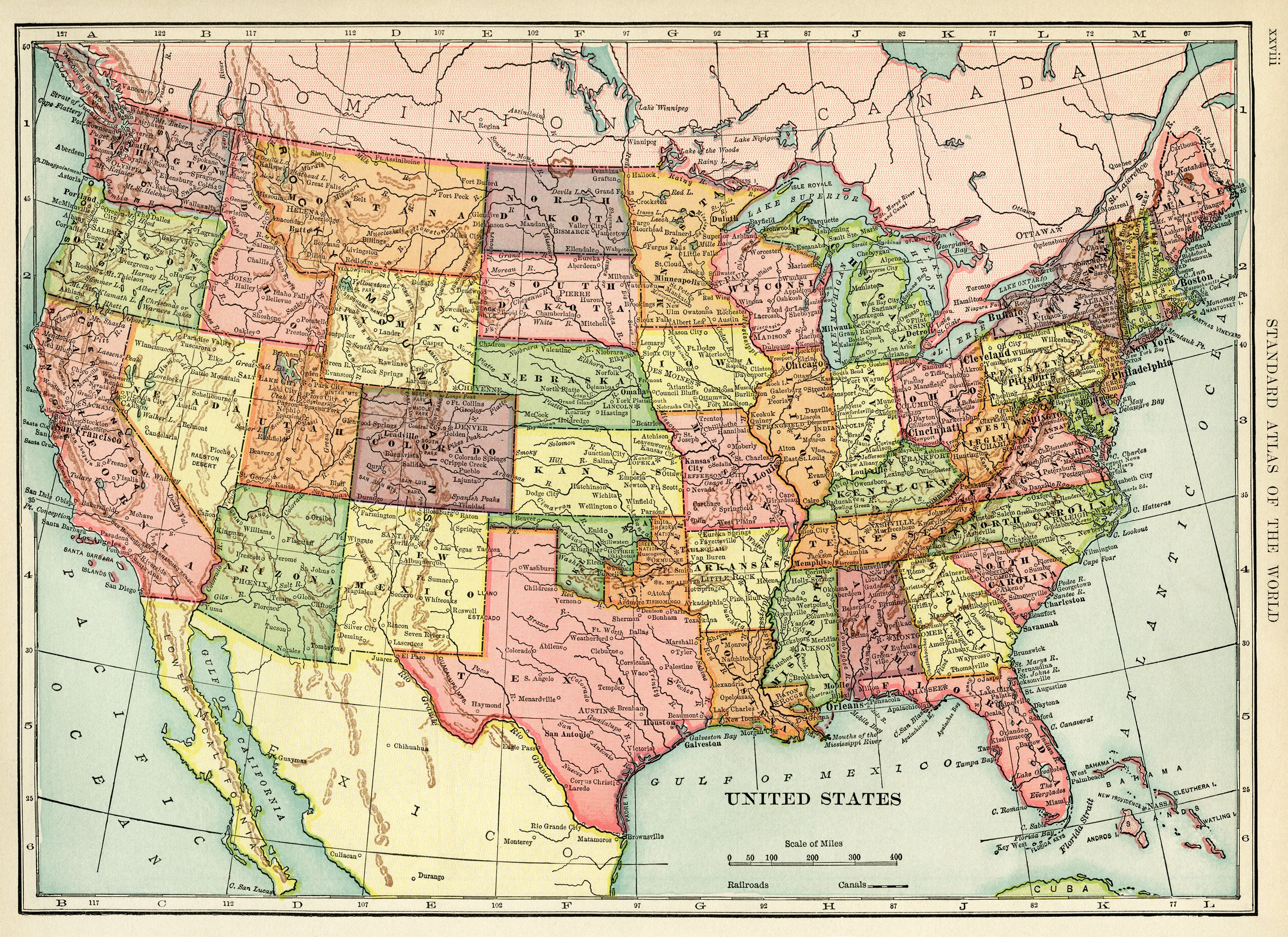 United States Map Vintage Map Download Antique Map History - States map of the united states