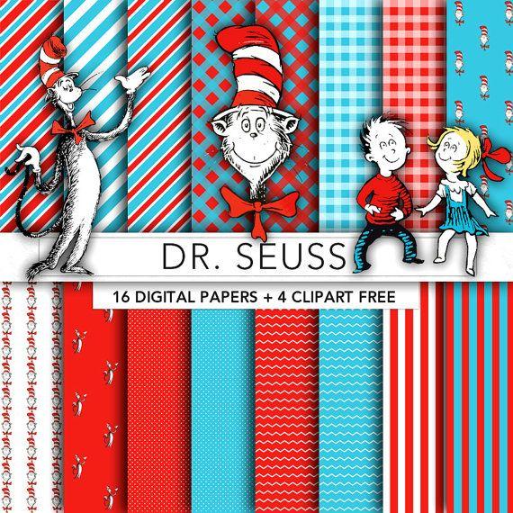 Dr Seuss digital paper,Dr Seuss clipart,scrapbook,background,texture