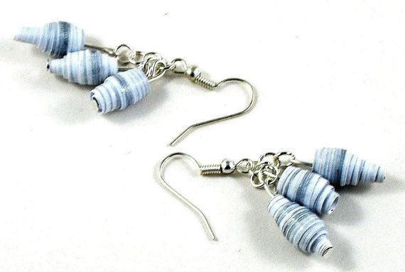 Hey, I found this really awesome Etsy listing at https://www.etsy.com/listing/249699190/handmade-paper-bead-earrings-white-and