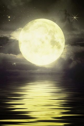 50 Hd Iphone Wallpapers Moon Pictures Yellow Moon Beautiful Moon