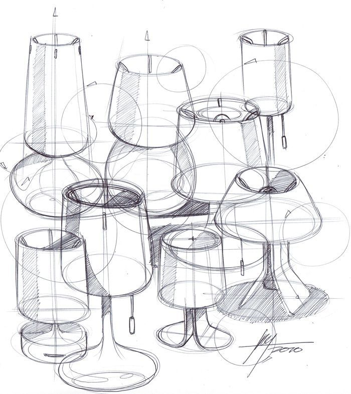 Designing Lamps simple product design sketch - google search | designing with