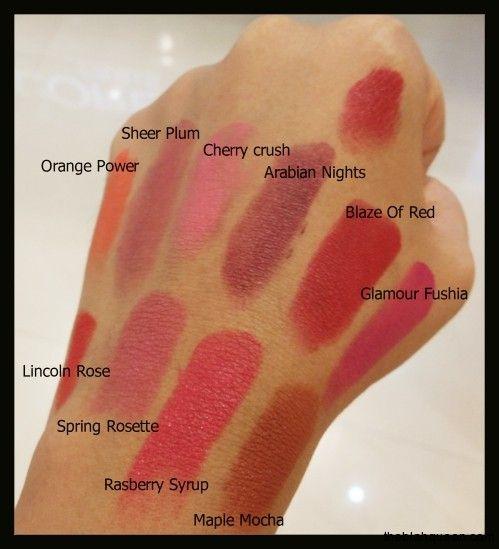 Loreal Lipstick Colour Chart Beauty Pinterest Lipstick Colors