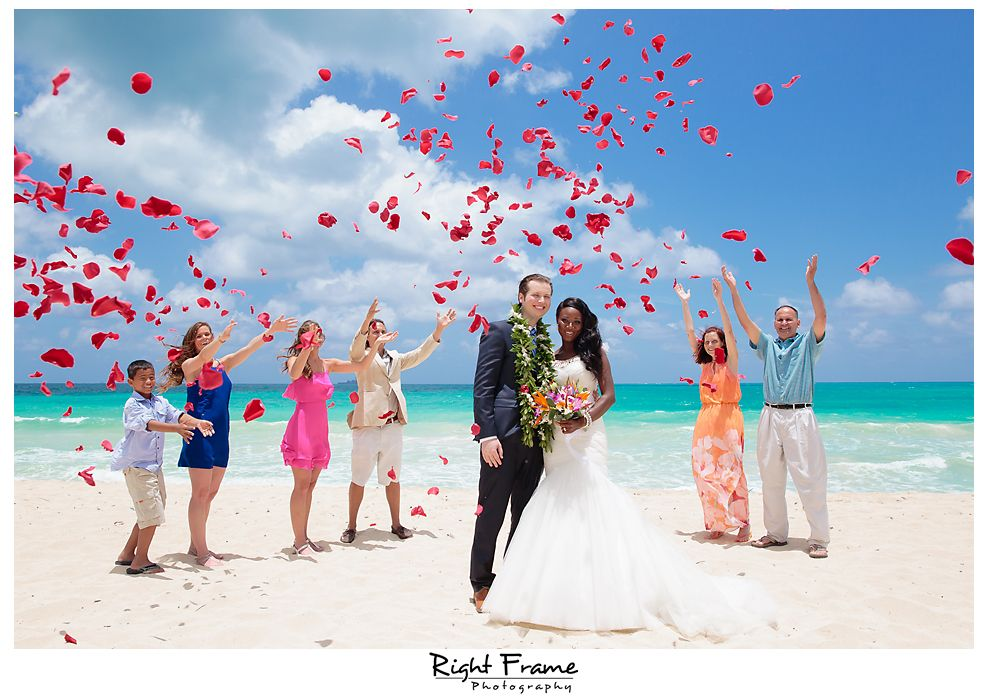 rightframenet hawaii destination wedding at waimanalo beach oahu weddings