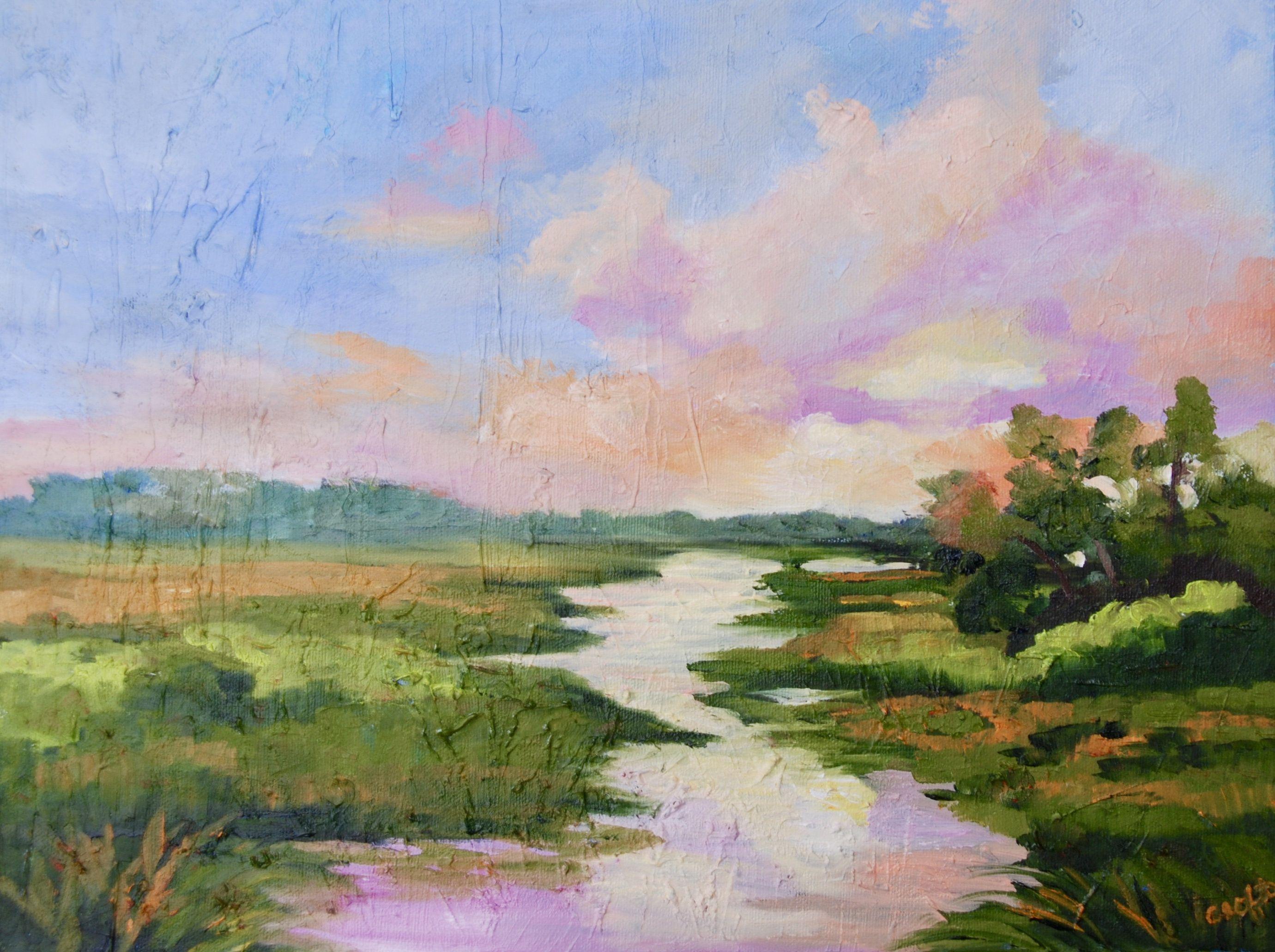 Marsh Kiawah Island Landscape Oil Painting Coastal Home Decor Modern Impressionist Painting By Rebecca Cr Oil Painting Abstract Oil Painting Landscape Painting