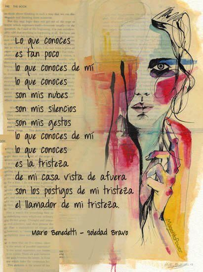 Mario Benedetti Frases Palabras Amor Vida Yo Leben Lachen