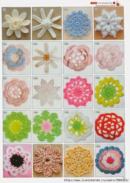 D.I.Y ( do it yourself ) czyli Z.T.S ( zrób to sam ): WZÓR / SCHEMAT - Szydełkowe kwiaty